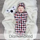 * CuddleMe - Hybrid Swaddlepod Diamond *RED*
