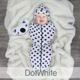 * CuddleMe - Hybrid Swaddlepod *DOT WHITE*