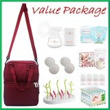 Tiny Touch Mini Portable Electric Single Breast Pump **VALUE PACKAGE**