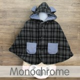 * CuddleMe - Baby Cape *MONOCHROME*