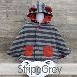 * CuddleMe - Baby Cape *STRIPE GREY*