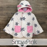 * CuddleMe - Baby Cape *SNOW PINK*