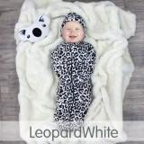 * CuddleMe - Hybrid Swaddlepod *LEOPARD WHITE*