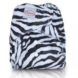 Autumnz - Minky Velcro* FREE 2 Inserts* - Zebra