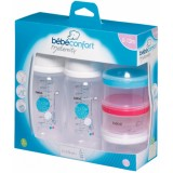 Bebe Confort - PP Bottle 270 ml (2 pk) + Milk Dispenser *Clear*
