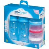 Bebe Confort - PP Bottle 270 ml (2 pk) + Milk Dispenser *Blue*