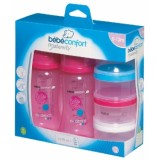 Bebe Confort - PP Bottle 270 ml (2 pk) + Milk Dispenser *Pink*