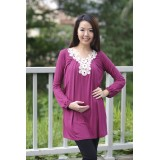 Autumnz - Arianna 2-in-1 Maternity/Nursing Top (Violet)