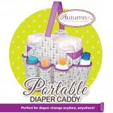 Autumnz Portable Diaper Caddy - Bubbles (Purple)