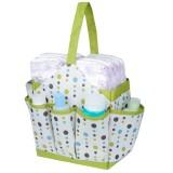 Autumnz Portable Diaper Caddy - Confetti (Lime)