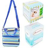 Autumnz - Posh Cooler Bag Complete Set (4 btls) - Beaming Blue Stripe