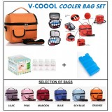 V-Coool Premium Cooler Bag Complete Set (4 bottles)