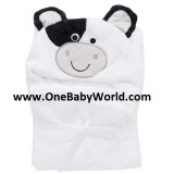 Adorable - Soft Hooded Bath Blanket *Moo Moo Cow*