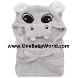 Adorable - Soft Hooded Bath Blanket *Hippo*