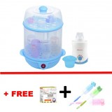 Autumnz - (BLUE) 2-in-1 Electric Steriliser + Home & Car Warmer Combo *FOC Bottle Brush*