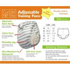 * CuddleMe - Adjustable Training Pants *STRIPE BLACK*