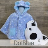 * CuddleMe - Baby Cape *DOT BLUE*