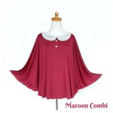 * CuddleMe - Nursing Cover *MAROON COMBI*