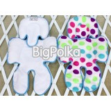* CuddleMe - Head & Body Support Seat Pad *BIG POLKA*