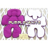 * CuddleMe - Head & Body Support Seat Pad *WHITE / PURPLE*