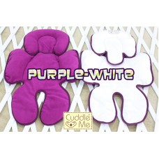 * CuddleMe - Head & Body Support Seat Pad *WHITE / PURPLE*
