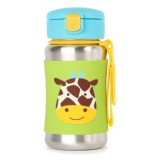 Skip Hop - Zoo Stainless Steel Kid Straw Bottle *Giraffe*