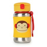 Skip Hop - Zoo Stainless Steel Kid Straw Bottle *Monkey*