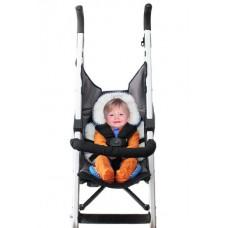 * CuddleMe - Head & Body Support Seat Pad *WHITE / LITE ORANGE*