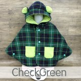 * CuddleMe - Baby Cape *CHECKED GREEN*