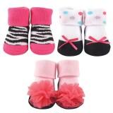 Luvable Friends - Socks Gift Set 3pc (Girl Design B) *07172* BEST BUY
