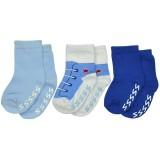 Luvable Friends - Shoe Socks Non-skid 3pk *23080S* (Boy) 0-6M