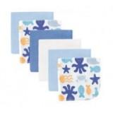 Luvable Friends - Ocean Washcloth 6pk (Blue)