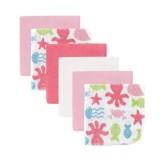 Luvable Friends - Ocean Washcloth 6pk (Pink)