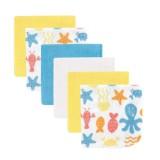 Luvable Friends - Ocean Washcloth 6pk (Yellow)
