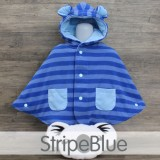 * CuddleMe - Baby Cape *STRIPE BLUE*