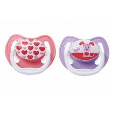 Dr Brown's - PreVent Classic Soother Stage 1 - 2 pcs (Pink/Purple)