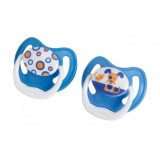 Dr Brown's - PreVent Classic Soother Stage 2 - 2 pcs (Blue/Dark Blue)