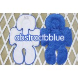 * CuddleMe - Head & Body Support Seat Pad *ABSTRACTBLUE*