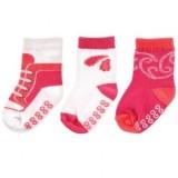Luvable Friends - Shoe Socks Non-skid 3pk *90290L* (Girls) 12-24M