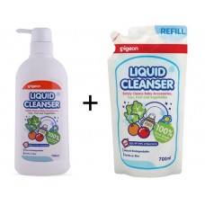Pigeon - Liquid Cleanser 700ml COMBO (Pump + Refill) *BEST BUY*