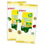 Pigeon - Hand And Mouth Wet Tissues 20's X 2 *BEST BUY*