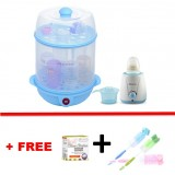 Autumnz - (BLUE) 2-in-1 Electric Steriliser + Home Warmer Combo *FOC Bottle Brush*