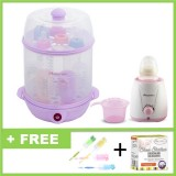 Autumnz - (LILAC) 2-in-1 Electric Steriliser + Home Warmer Combo *FOC Bottle Brush*