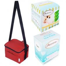 Autumnz - Fun Foldaway Cooler Bag Complete Set (4 btls) - Scarlet Checks