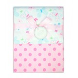 Autumnz - 2-pack Flannel Receiving Blanket *Butterfly Dots*