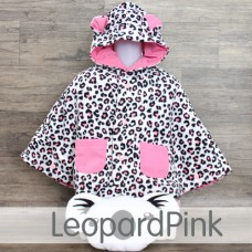 * CuddleMe - Baby Cape *LEOPARD PINK*