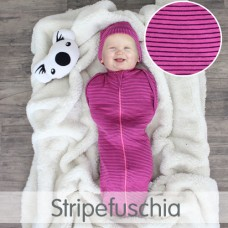 * CuddleMe - Hybrid Swaddlepod *STRIPE FUSCHIA*