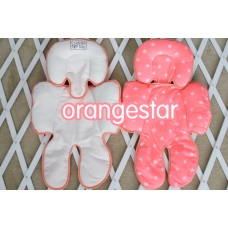 * CuddleMe - Head & Body Support Seat Pad *ORANGE STAR*