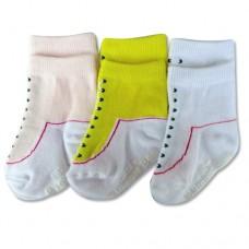 Bumble Bee - Girl Shoelike 3 Pair Socks