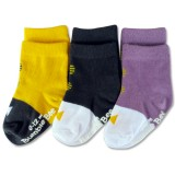 Bumble Bee - Boy Bow Classic 3 Pair Socks
